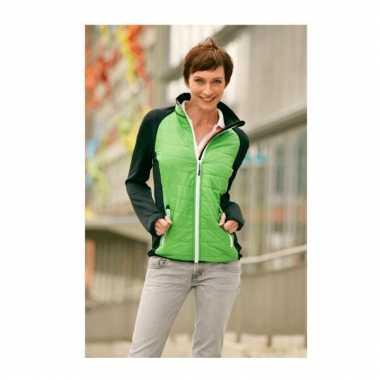 Goedkope  Dikke nauwsluitende damesjack stretch fleece groen