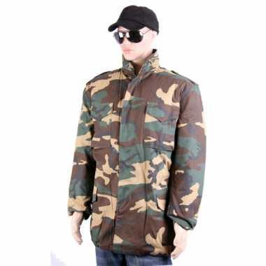 Goedkope  Legerprint winterjas voor volwassenen
